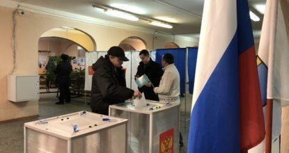 Голосуют в Гатчинком районе