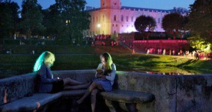 Гатчинский дворец ночью