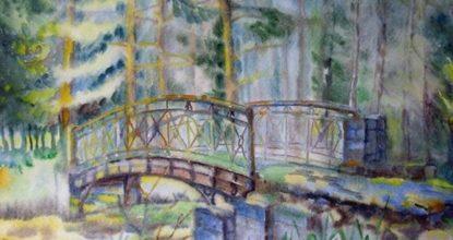 Рисунок: гатчинский парк