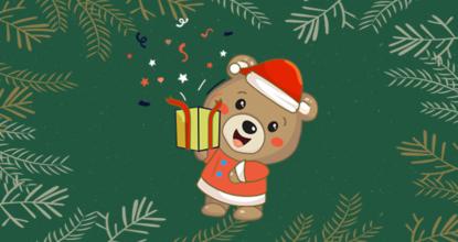 Медвежонок с подарком