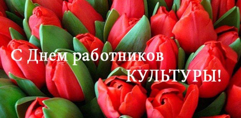 День работников культуры - тюльпаны