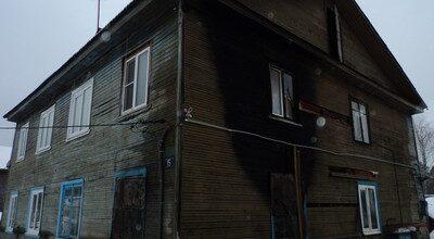 Дом после пожара в Вырице