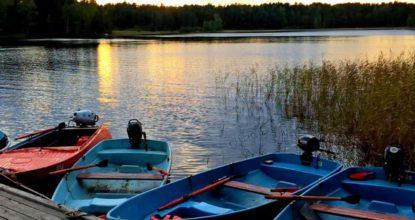Лодки на Вуоксе