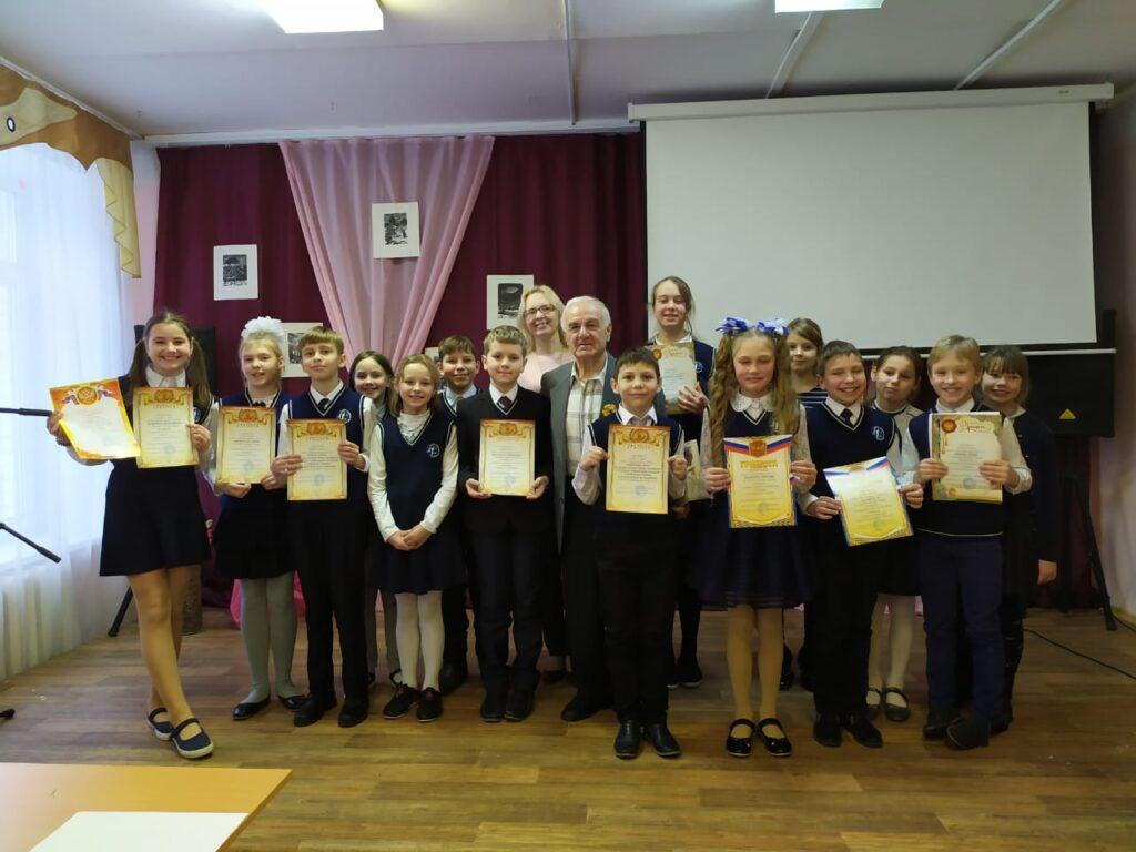 Участники конкурса в Войсковицкой школе №2