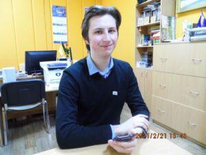 Евгений Новиков в редакции газеты