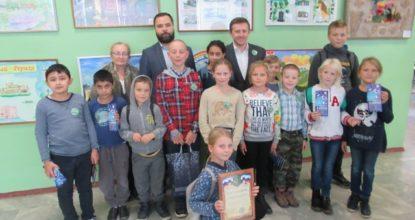 Дети на конкурсе экокино