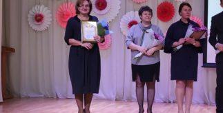 Ольга Воропаева (слева) на церемонии награждения