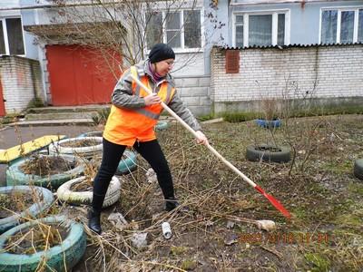 Рабочий комплексной уборки Оксана Сонтра