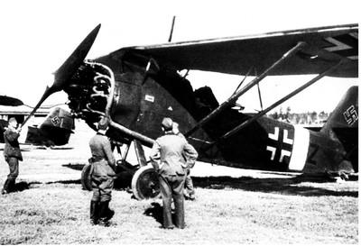 Сиверский военный аэродром. Фотография 1942 года