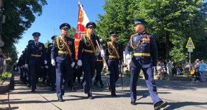 Парад в честь Дня Победы в Гатчине