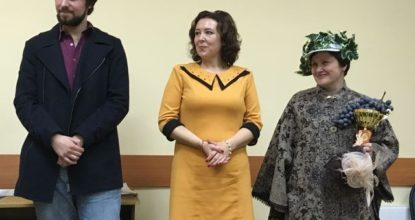 Тройка финалистов - Никита Погодин, Дарья Петрова, Юлия Колбенева (победитель)