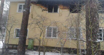 Обгоревший дом в Вырице