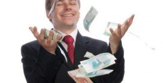 Бизнесмен с деньгами