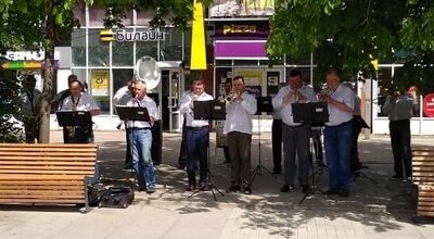 Духовой оркестр на Соборной