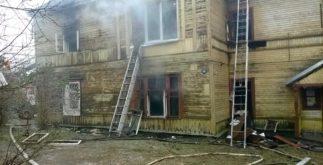 Дом 14 по ул. Чкалова  после пожара