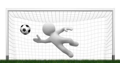 Человечек ловит мяч