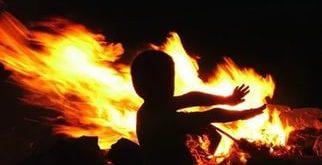 Ребёнок в огне
