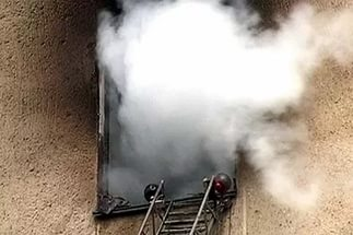Дым при пожаре