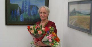 Наталья Косьянковская с цветами